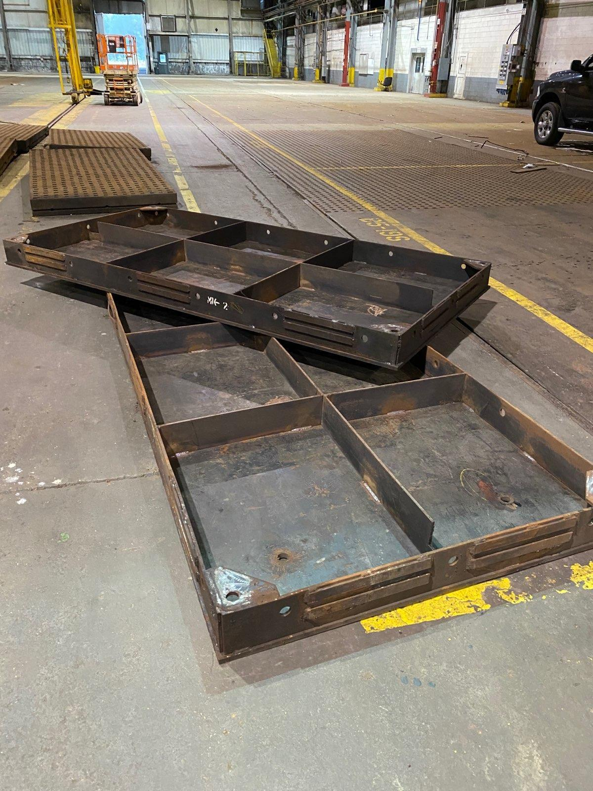 5' X 10' STEEL WELDING TABLES. STOCK # 0953420
