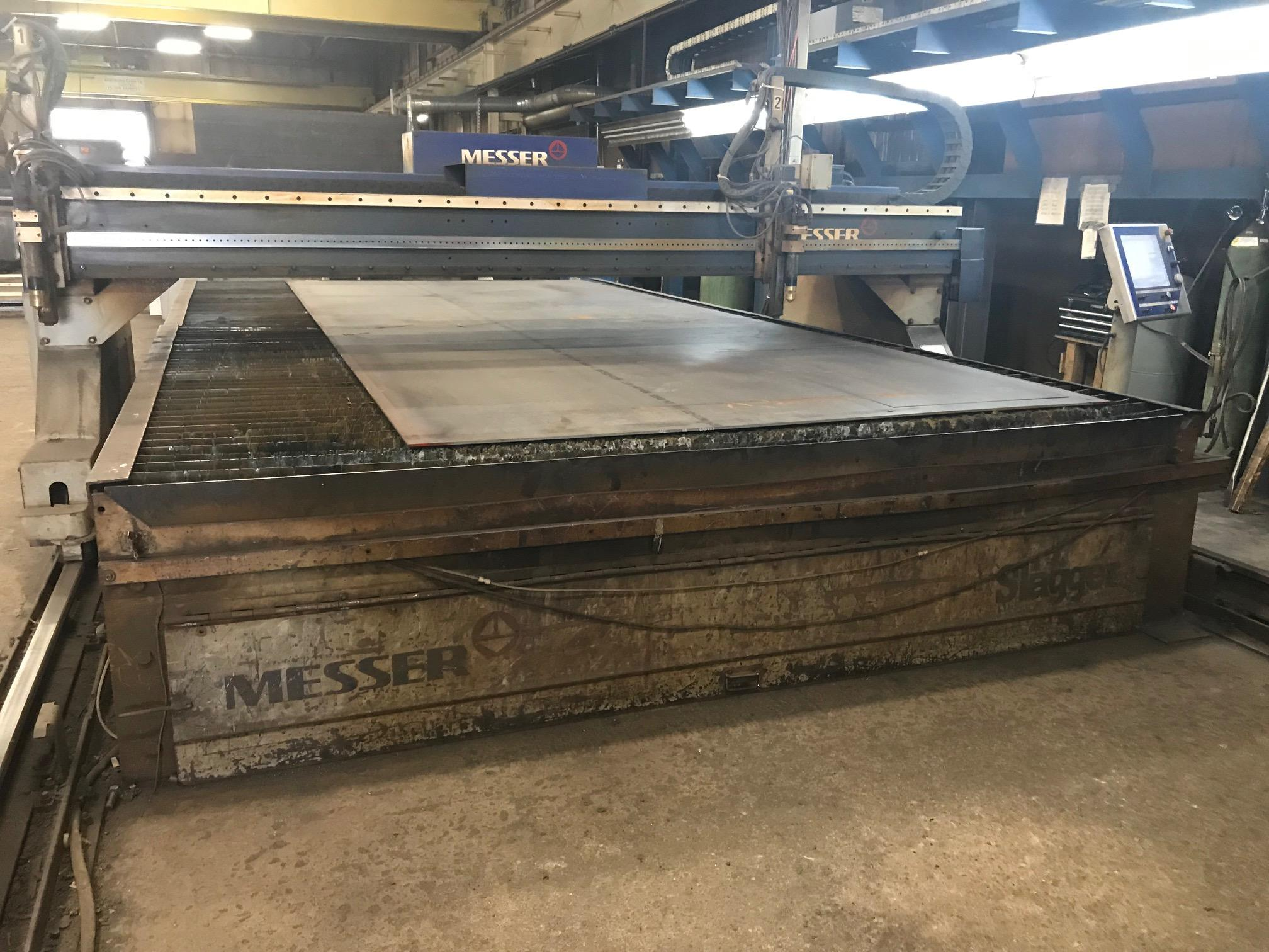 USED MESSER DUAL 200 AMP FINELINE CNC PLASMA CUTTING SYSTEM MODEL 10/4P, 2004, Stock no. 10591
