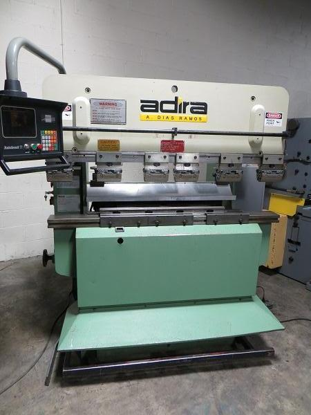 35 Ton x 5 ft Adira Hydraulic Upacting Press Brake Model QHA-3215 w/ 2 Axis Hurco CNC Back Gauge