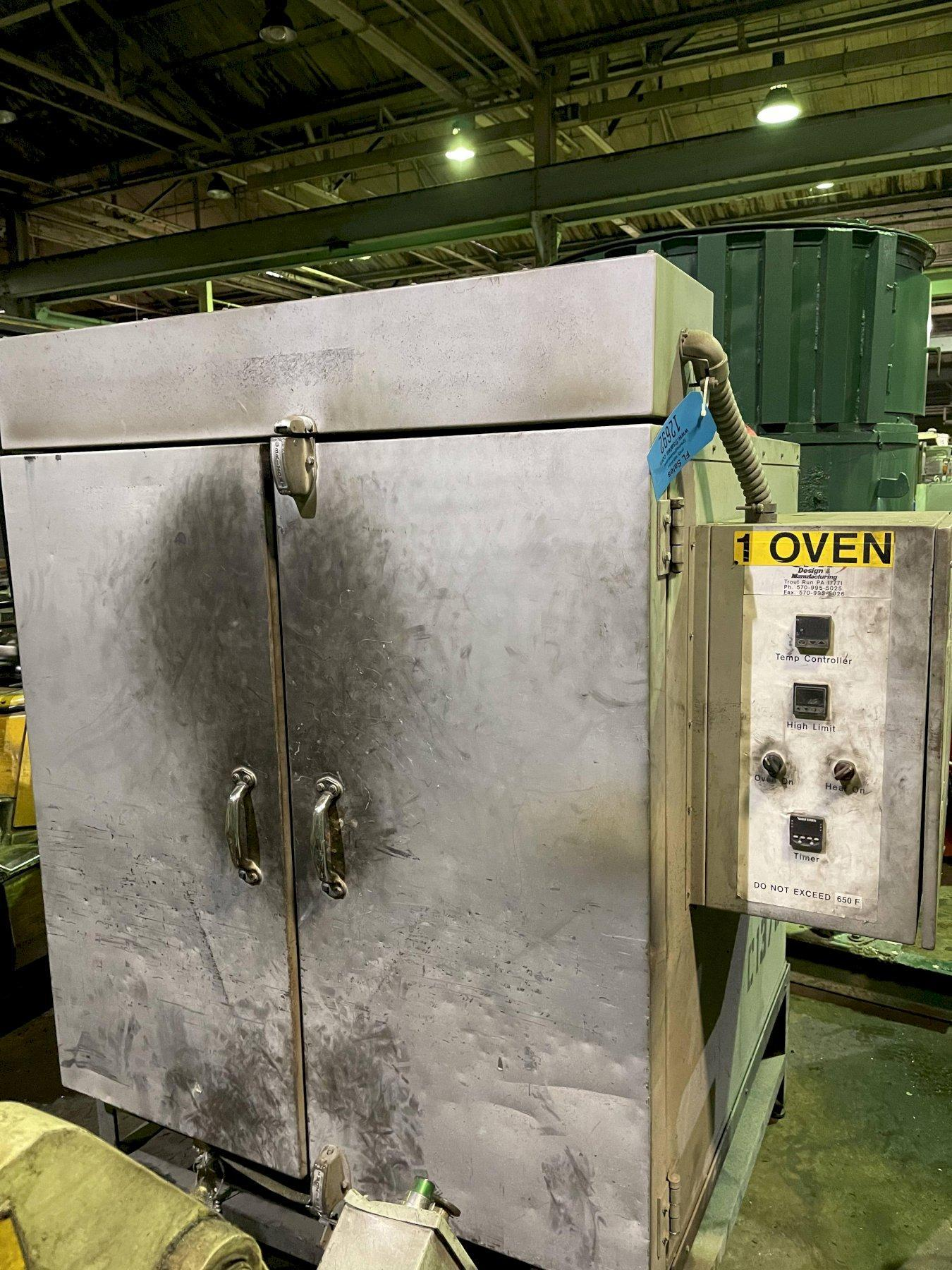 """JPW 36"""" x 36"""" x 36"""" deep oven s/n 000989 rated to 650 degree, 2- door"""