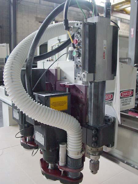Axyz 7' X 12' Twin Head CNC Vertical Router