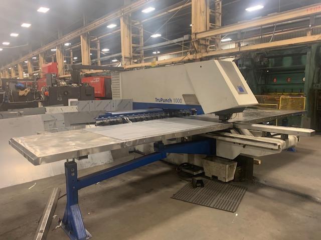 "2007 Trumpf Trupunch 1000 CNC Punching Machine, 19 Ton, 15 Station, 50"" x 80"" Sheet Capacity"