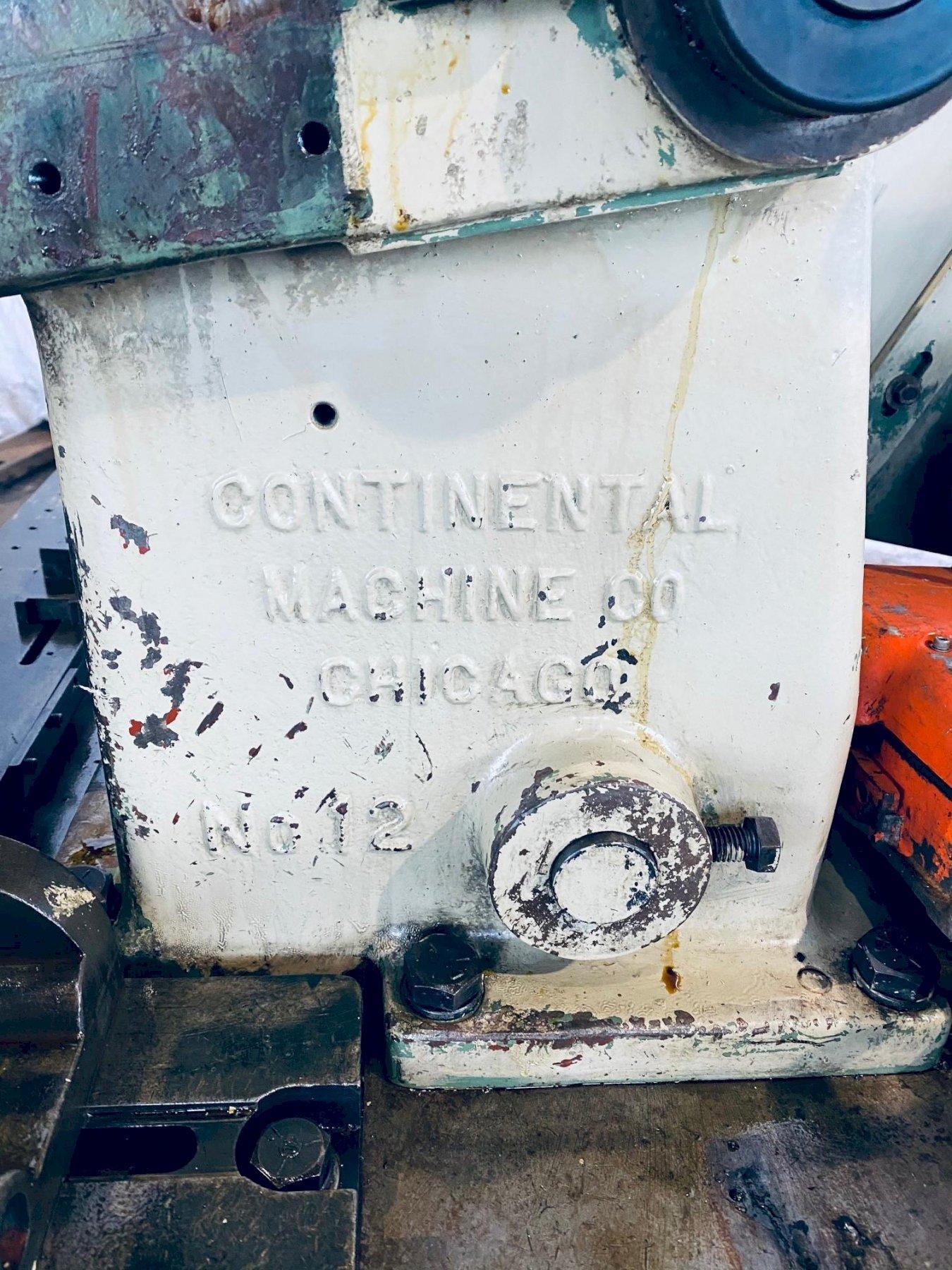 """12"""" CONTINENTAL NO. 12A CUT OFF MACHINE. STOCK # 0847520"""