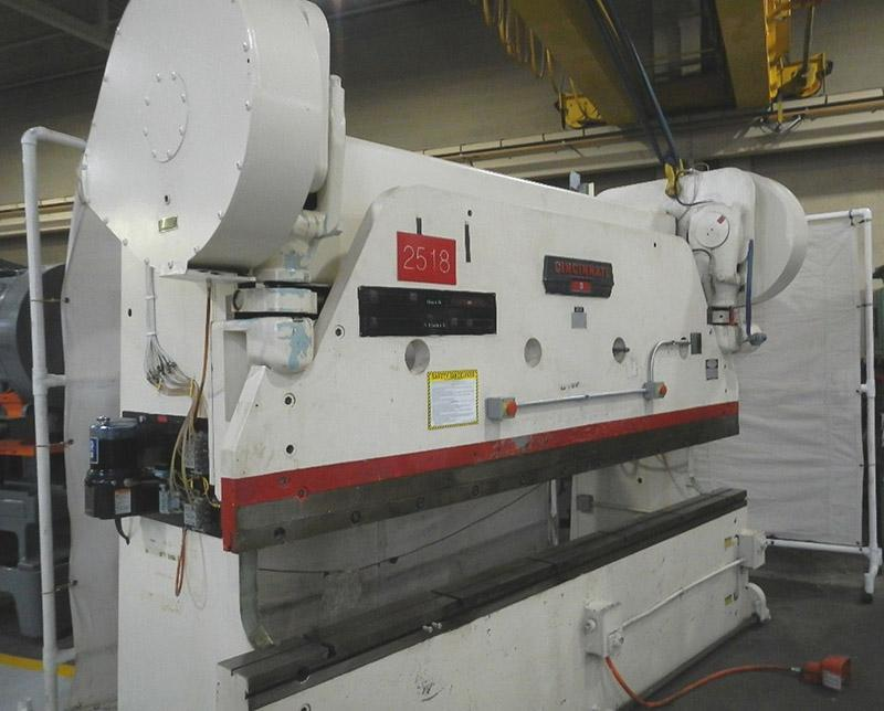 225 Ton x 12 ft, Used Cincinnati Mechanical Press Brake Model 9-10