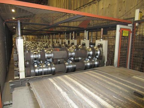 14 Stand Bradbury Multi Rib Panel Roll Forming Line