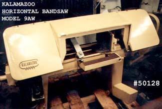 (1) PREOWNED KALAMAZOO HORIZONTAL BAND SAW, MODEL #: 9AW, S/N: 5047, YEAR: 1974