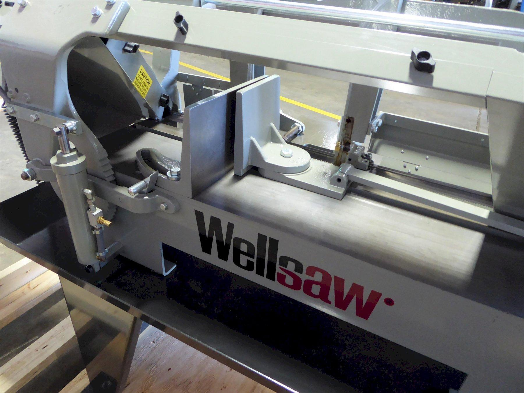 """10"""" x 16"""" Wellsaw Horizontal Band Saw No. 1016, 50-275 FPM, 1"""" Blade, Wet, 2 HP, New, In Stock"""