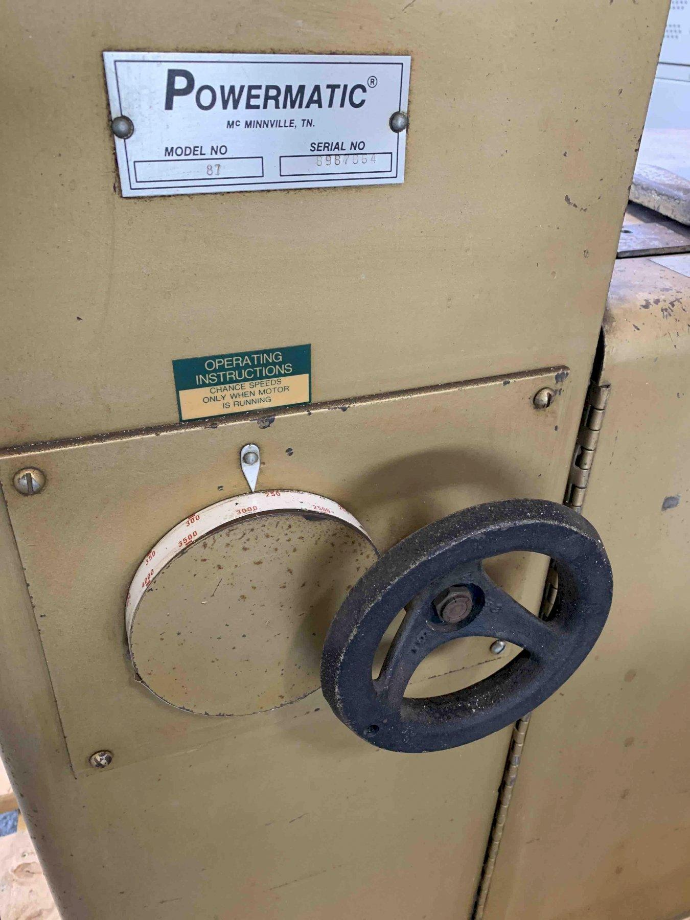 "USED POWERMATIC 20"" VERTICAL CONTOUR BANDSAW WITH BLADE WELDER MODEL 87, Year 1988, Stock # 10741"