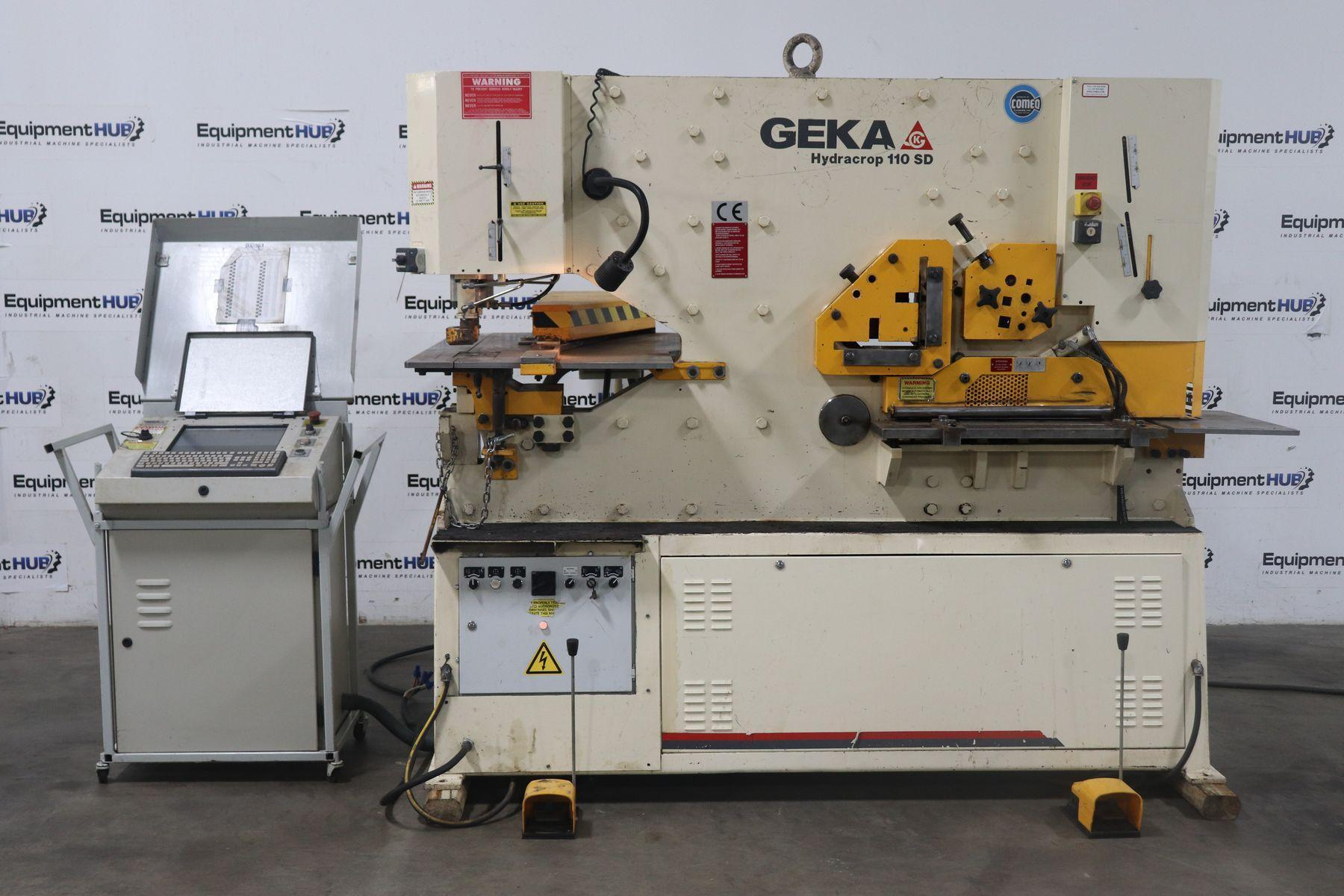 "120 Ton GEKA 110SD Hydraulic Ironworker 6"" x 6"" x 1/2"" Angle, with Semi Paxy CNC Gauge, 2012"