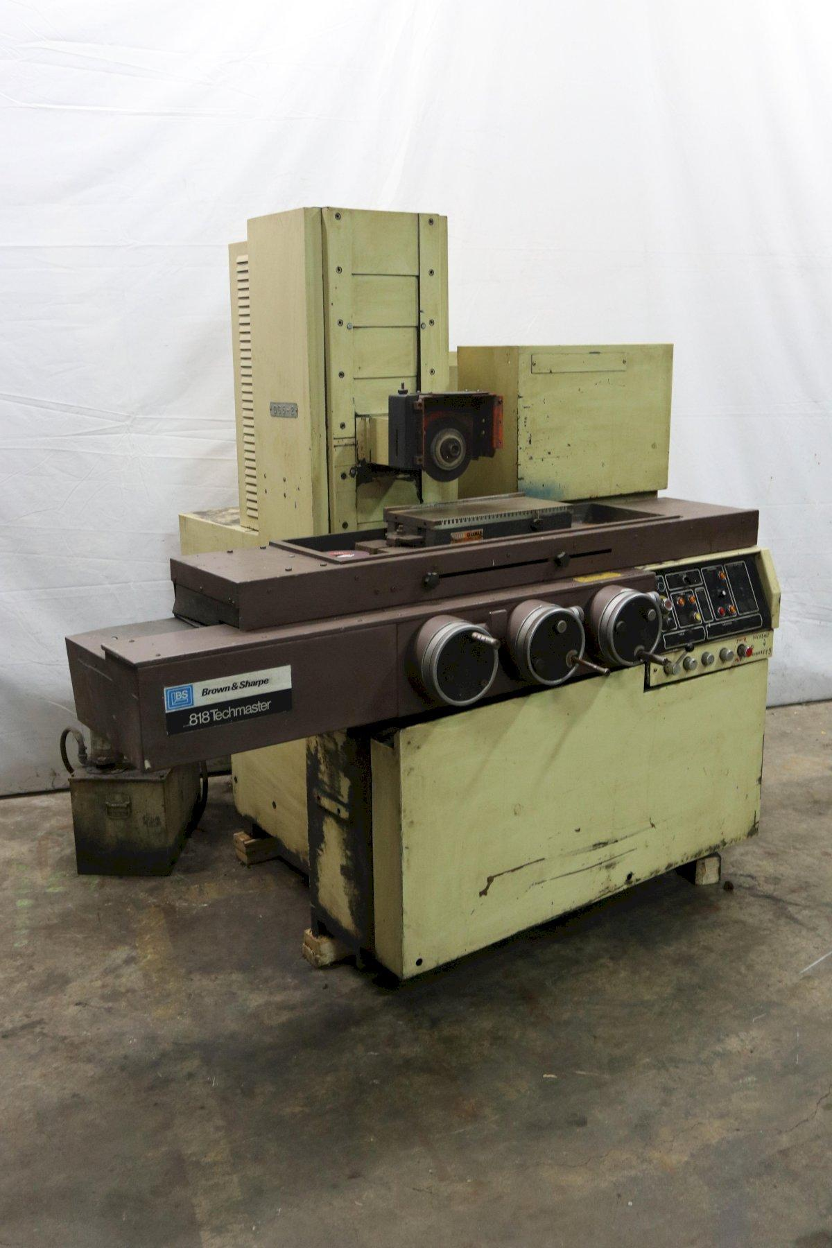"8"" X 18"" BROWN & SHARPE MODEL #818 TECHMASTER HORIZONTAL SURFACE GRINDER: STOCK #12242"