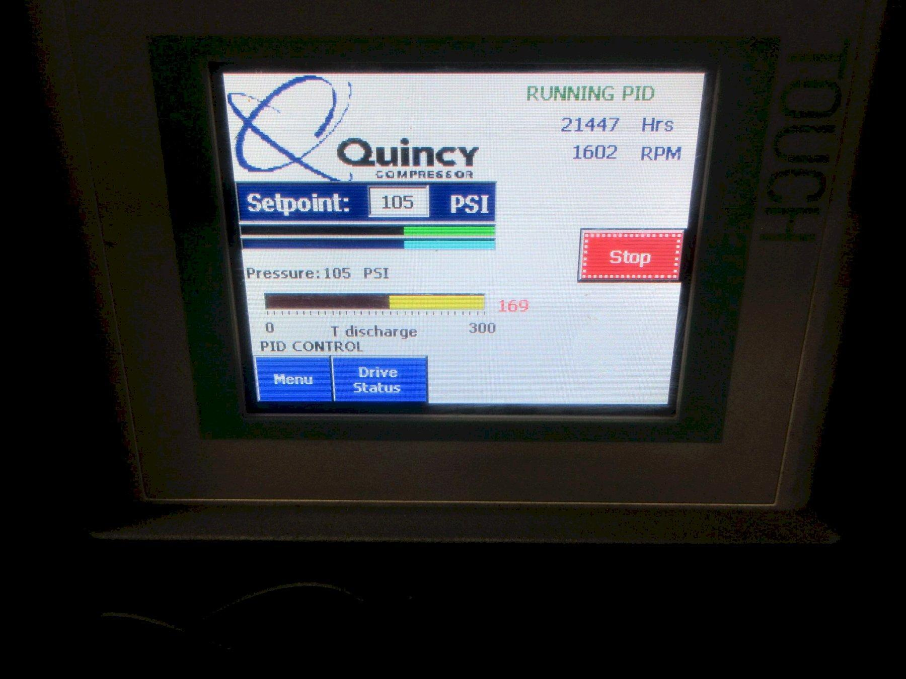 40 Hp Quincy QGV-40 Rotary Screw VSD air compressor