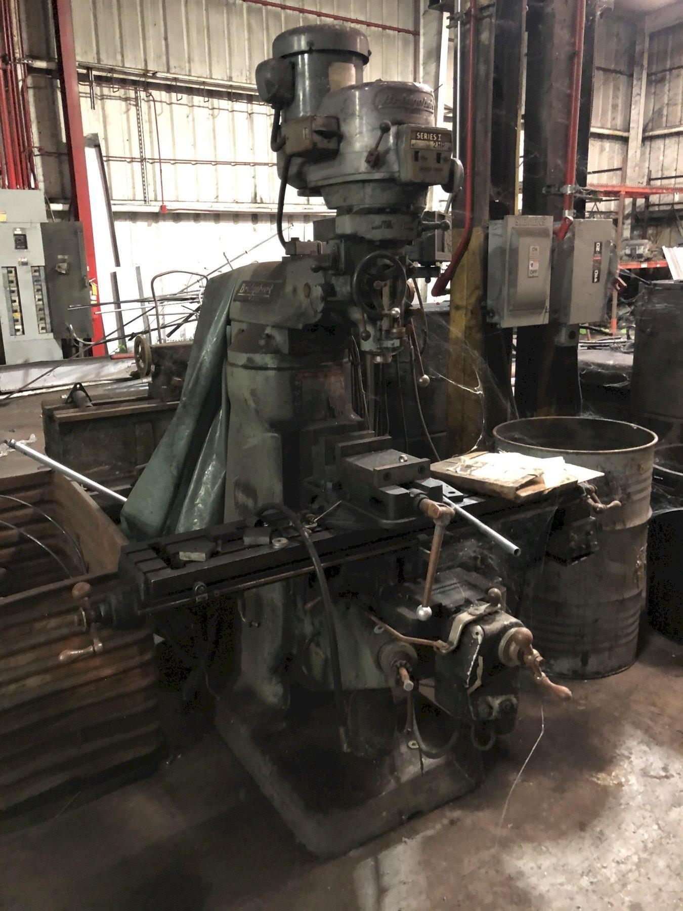 BRIDGEPORT 2 HP SERIES I VARIABLE SPEED VERTICAL MILL S/N 245105 WITH 2 AXIS DRO