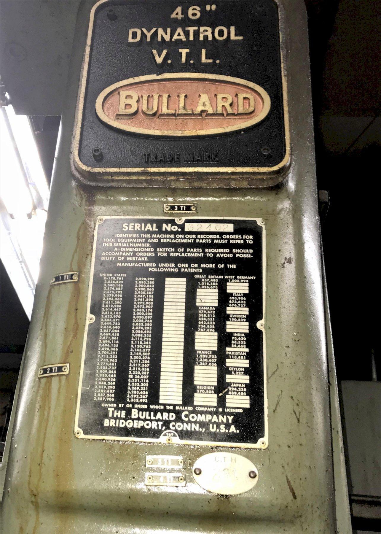 "Bullard Dynatrol 46"" Vertical Turret Lathe"