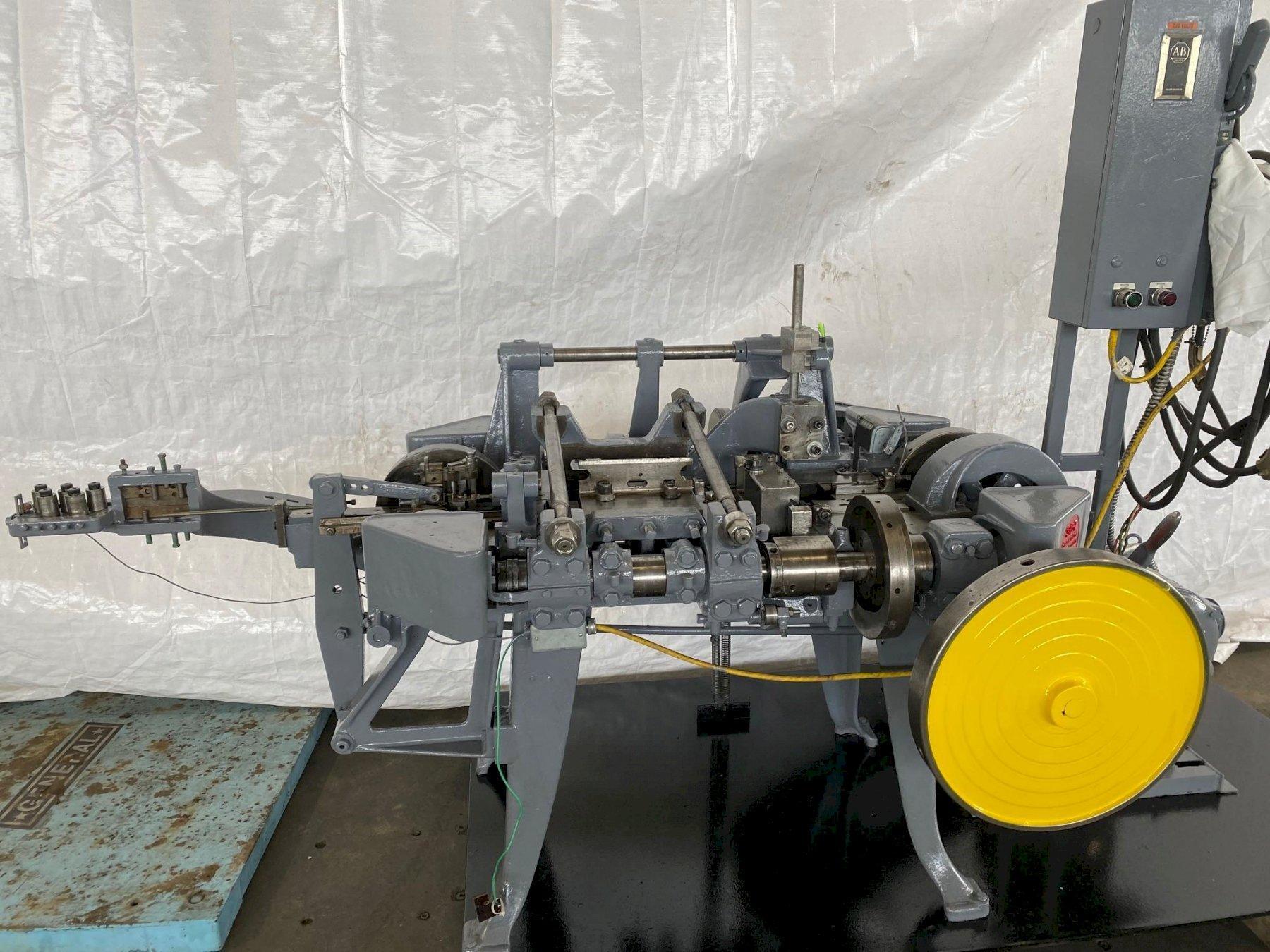 "1/8"" X 10"" NILSON S-2-F 4 SLIDE WIRE MACHINE. STOCK # 0510919"