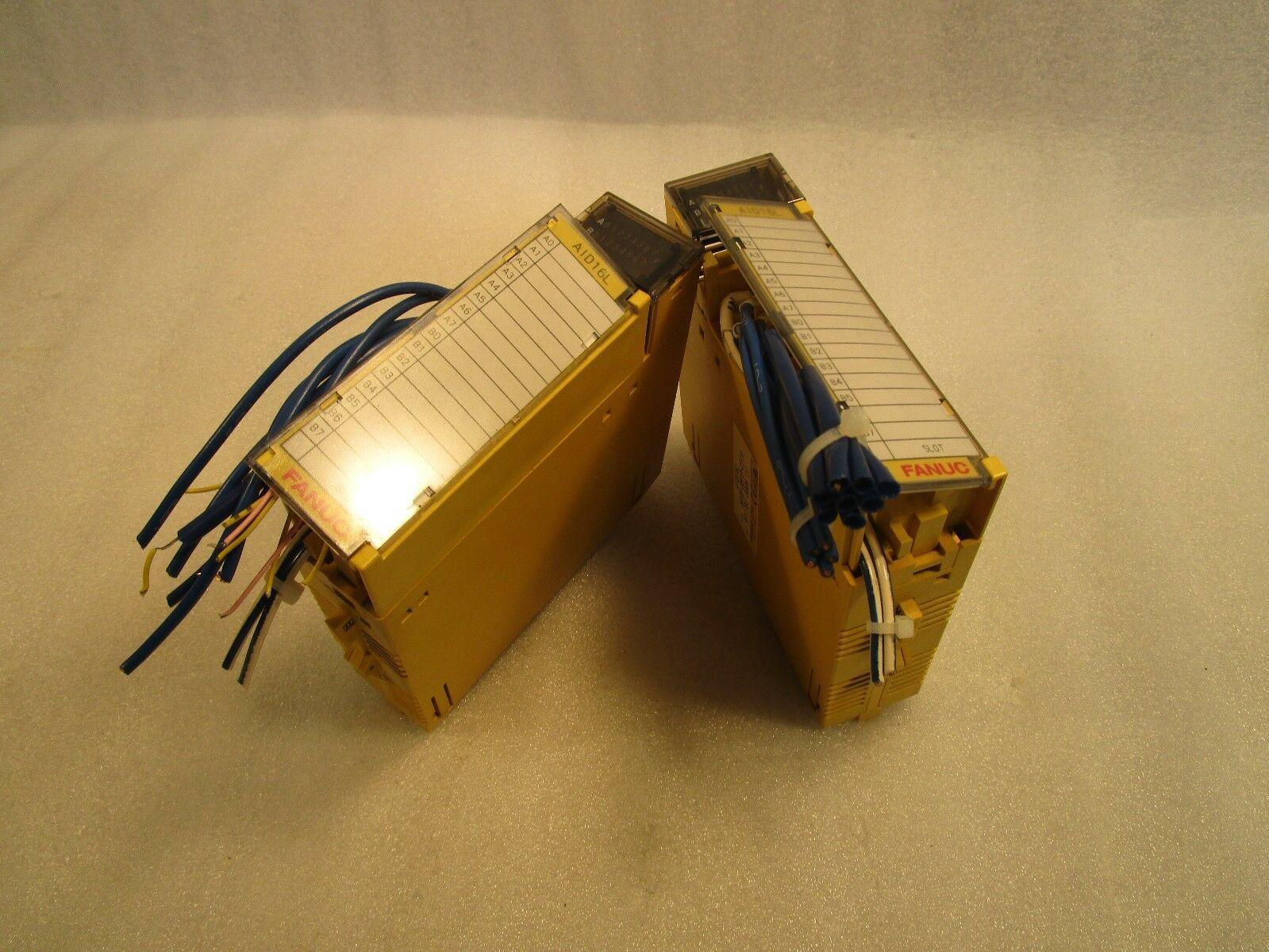 (Lot of 2) Fanuc I/O Module A1D16L A03B-0819-C114
