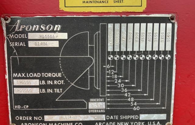 10,000 LB 0ARONSON MODEL #HD100A WELDING POSTIONER: STOCK #73621