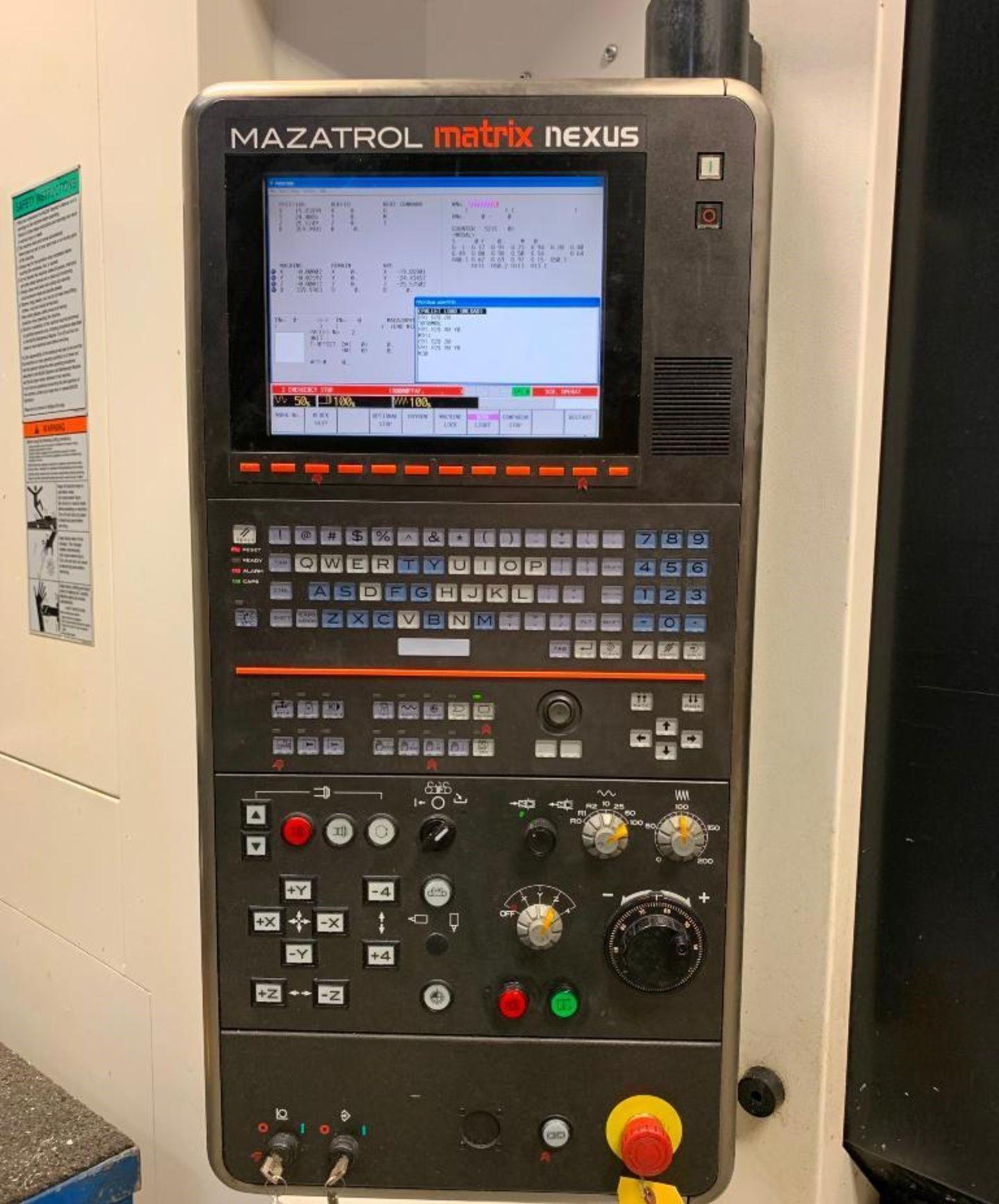 Mazak 18 Station Palletech Machining Cell w/(2) Mazak HCN-5000 II CNC Horizontal Machining Centers