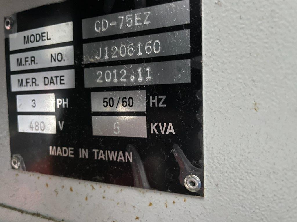 "CHMER CM323Z DIE SINKER EDM, Chmer 75EZ Power Supply (75 Amp), 19.7"" x 13.8"" Table, Travels X=11.8"", Y=7.9"", Z=11.8"", U & V ±5 mm, New 2012."