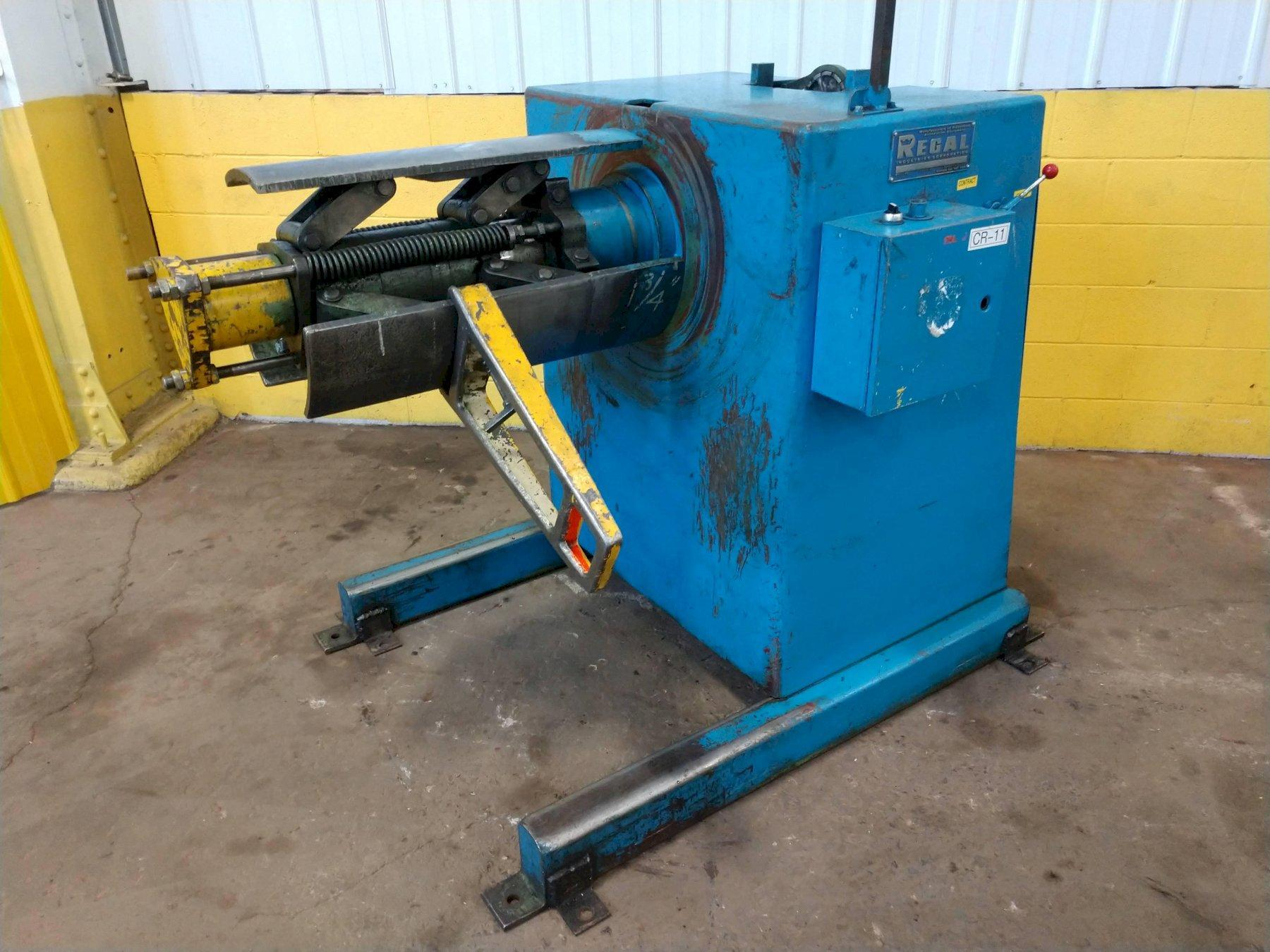 """10,000 LBS X 24"""" REGAL POWERED MOTORIZED COIL REEL UNCOILER: STOCK #13116"""