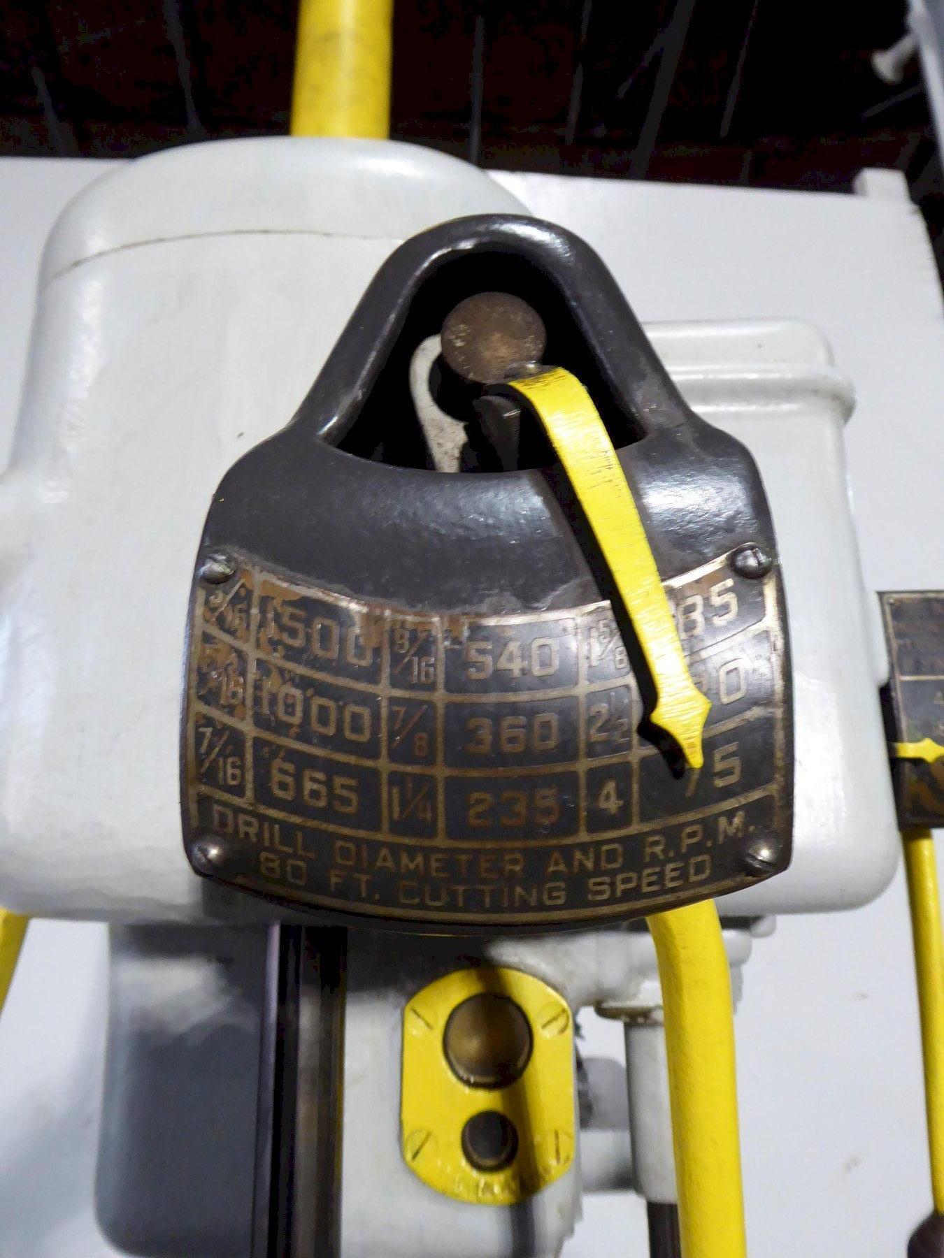 "21"" Cincinnati-Bickford Single Spindle Drill, 75-1500 RPM, 4 M.T., Coolant, 3 HP, Clean"