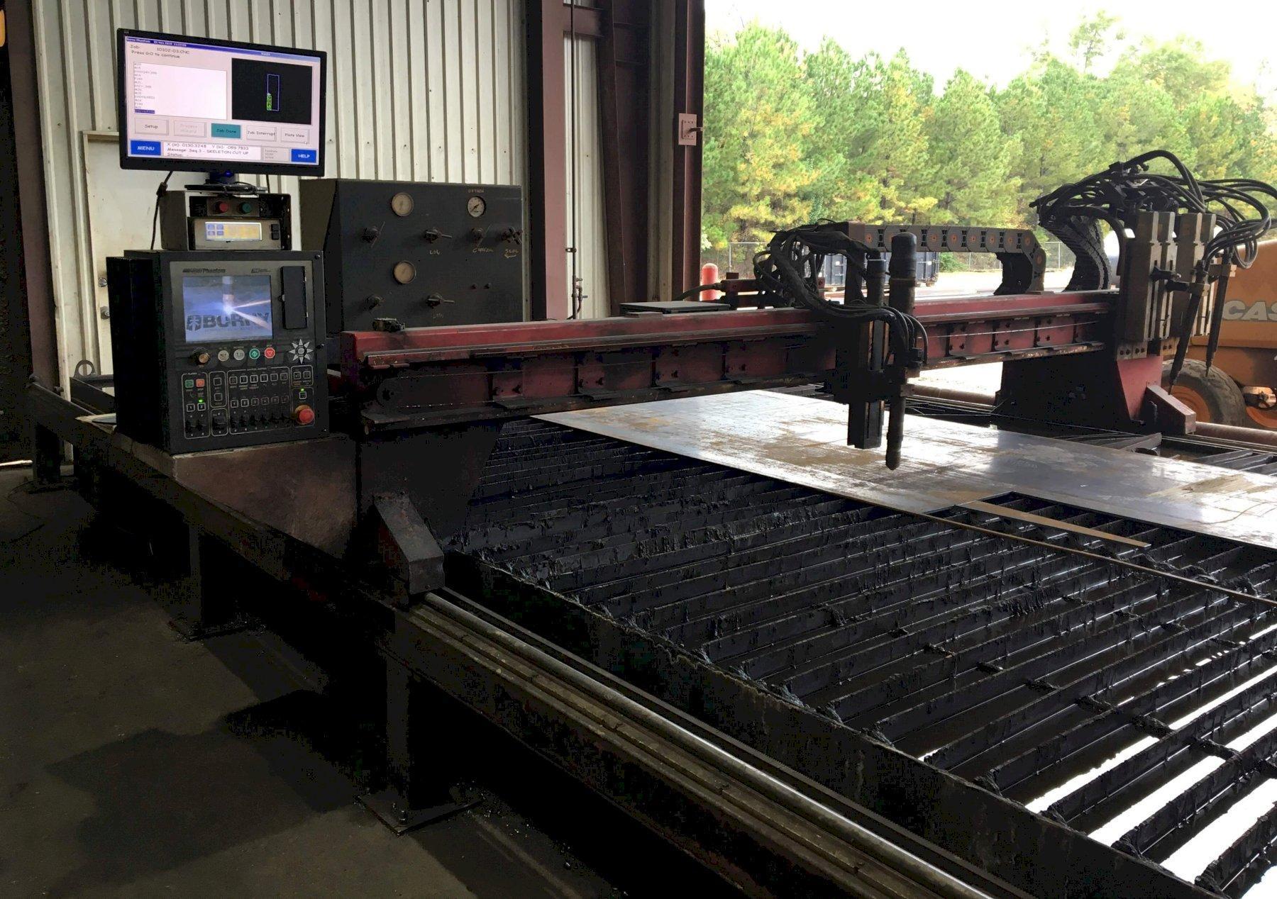 10' X 24' ESAB MODEL #GXB 1000 DUAL DRIVE CNC PLASMA SHAPE CUTTING TABL