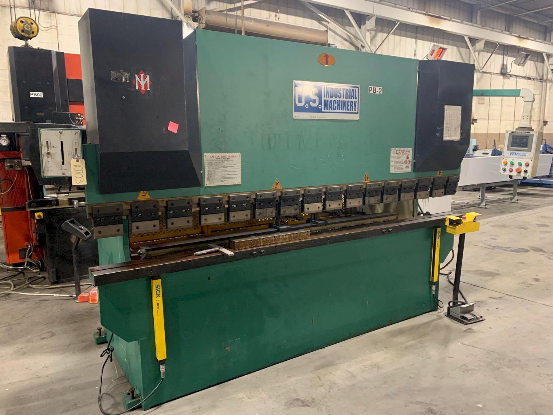 USED U.S. INDUSTRIAL 88 TON X 10' HYDRAULIC 2-AXIS CNC PRESS BRAKE, Year 2004, Stock #10703
