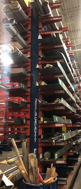 """Double Sided Cantilever Rack 18'H 24"""" Arms"""