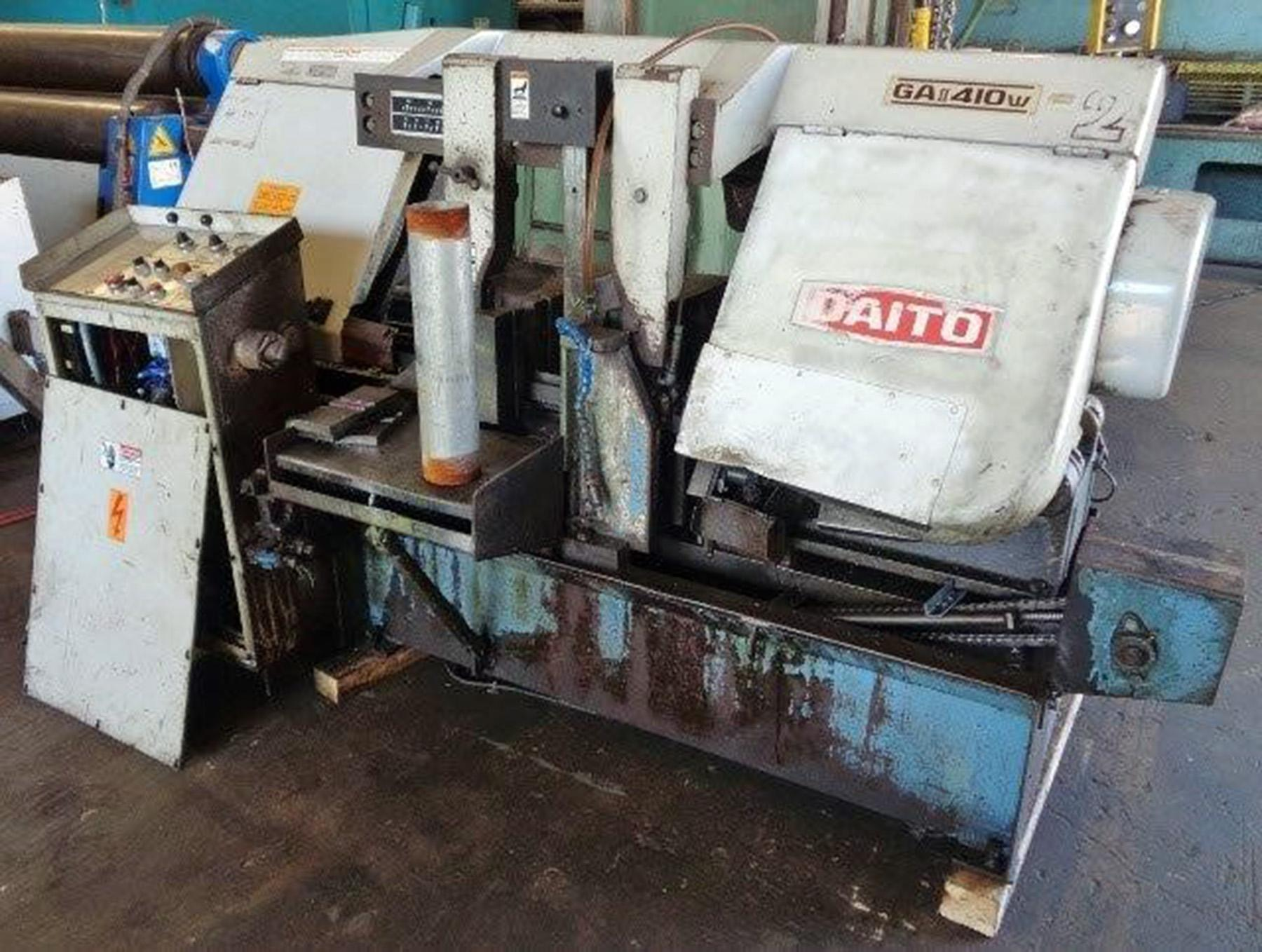 "USED, 15.75"" X 15.75"" DAITO MODEL GA II 410 W PROGRAMMABLE SEMI-AUTOMATIC HORIZONTAL BANDSAW"