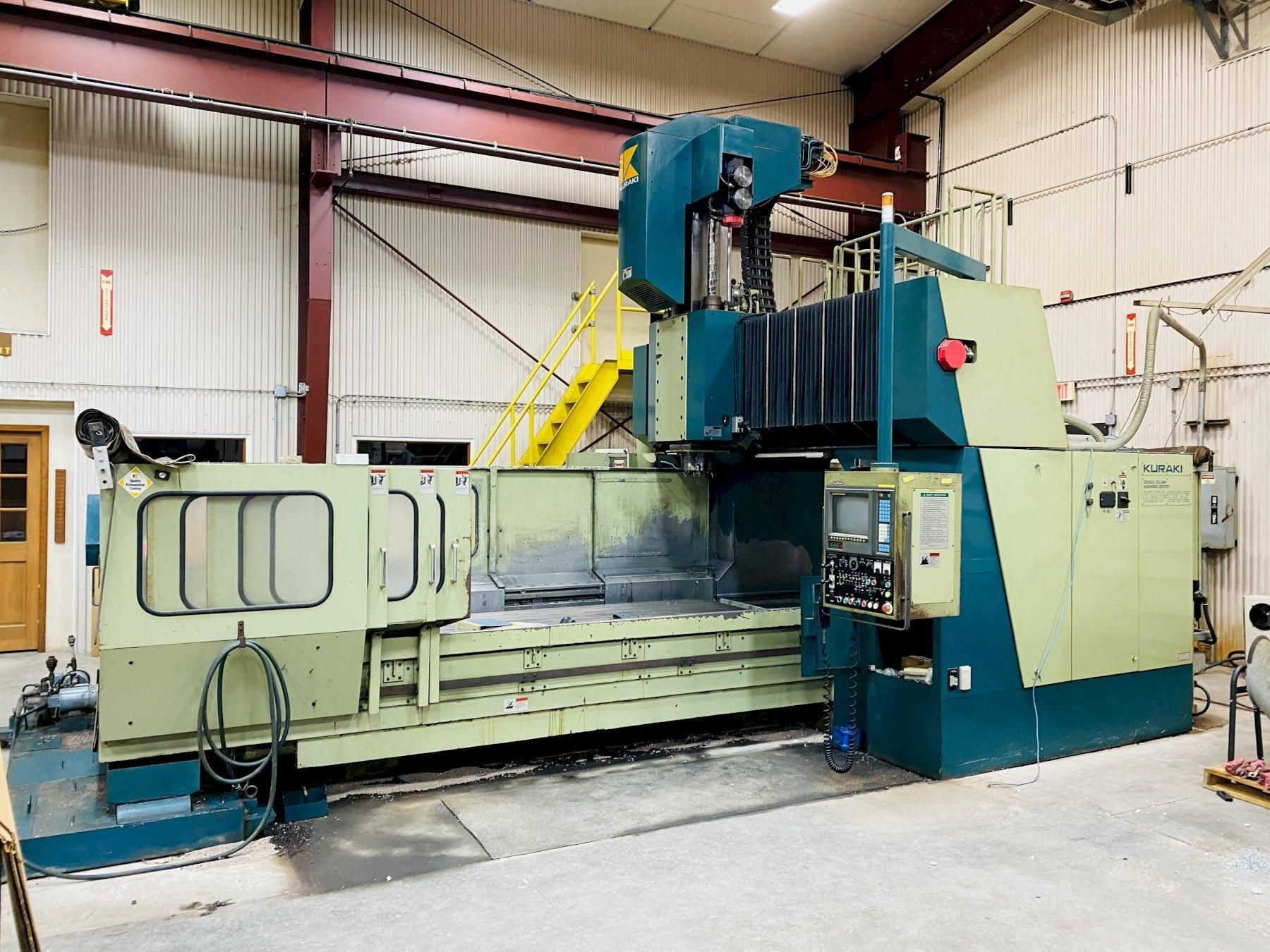 KURAKI MODEL KMV-130-Z 3-AXIS DOUBLE COLUMN MACHINING CENTER. STOCK # 1264420