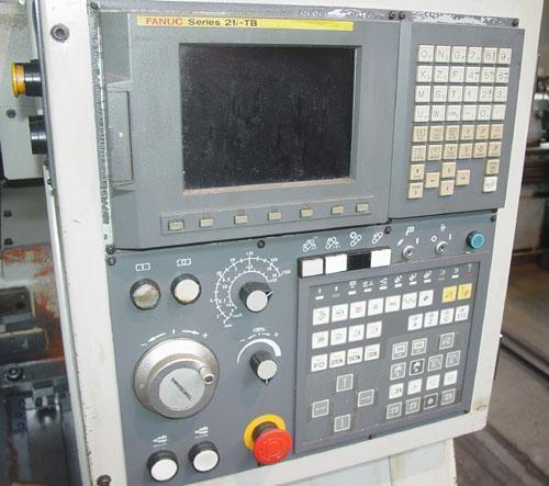 "TAKISAWA TC-200, Fanuc 21iTB CNC, 16"" Swing, Tailstock w/ 23"" Centers, 8 Position Turret, Chip Conveyor, 2007."