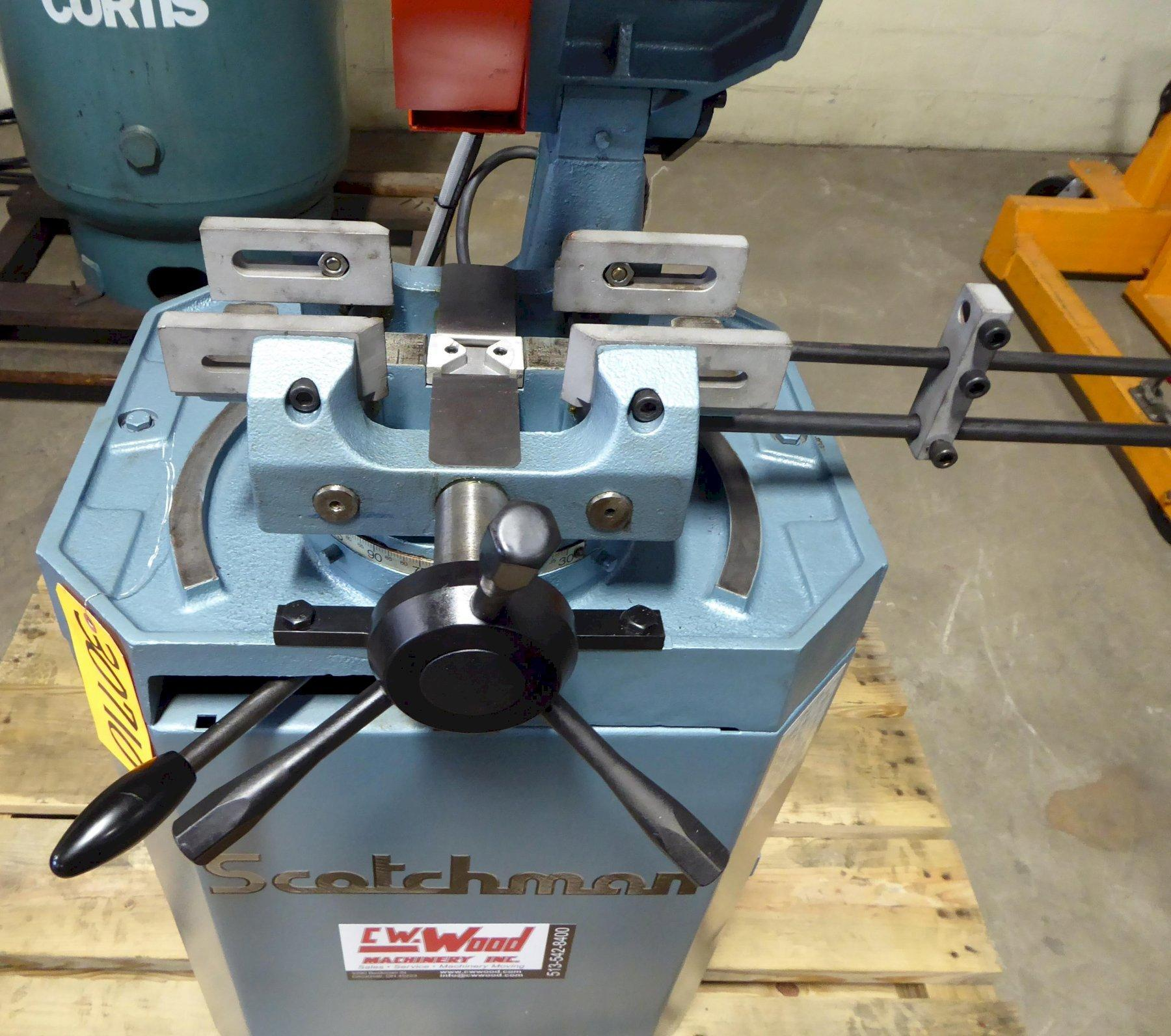 """10"""" Scotchman Cold Saw, Model CPO 275 LT, Miter, 1-1/2"""" Solids, 3-3/8"""" Round Tubing, 2 HP, Reconditioned 2020"""