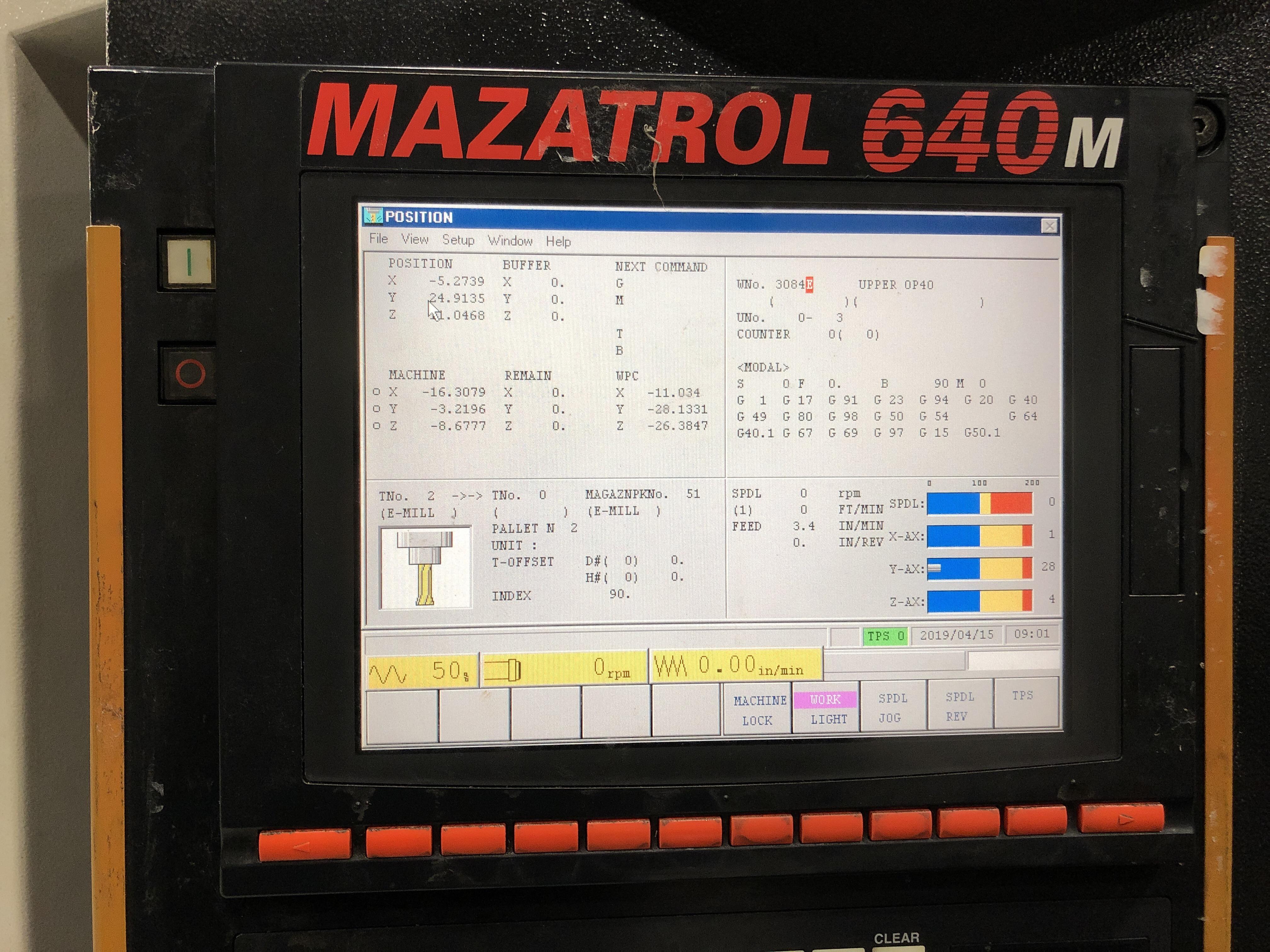 2004 Mazak PFH 4800 - Horizontal Machining Center