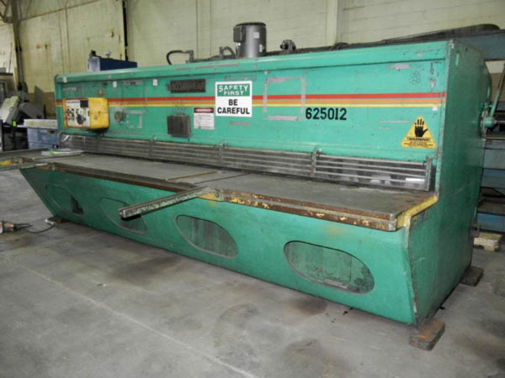 "USED ACCURSHEAR HYDRO MECHANICAL SHEAR, Model 6-250-12, 1/4"" x 12', Stock No. 10225"