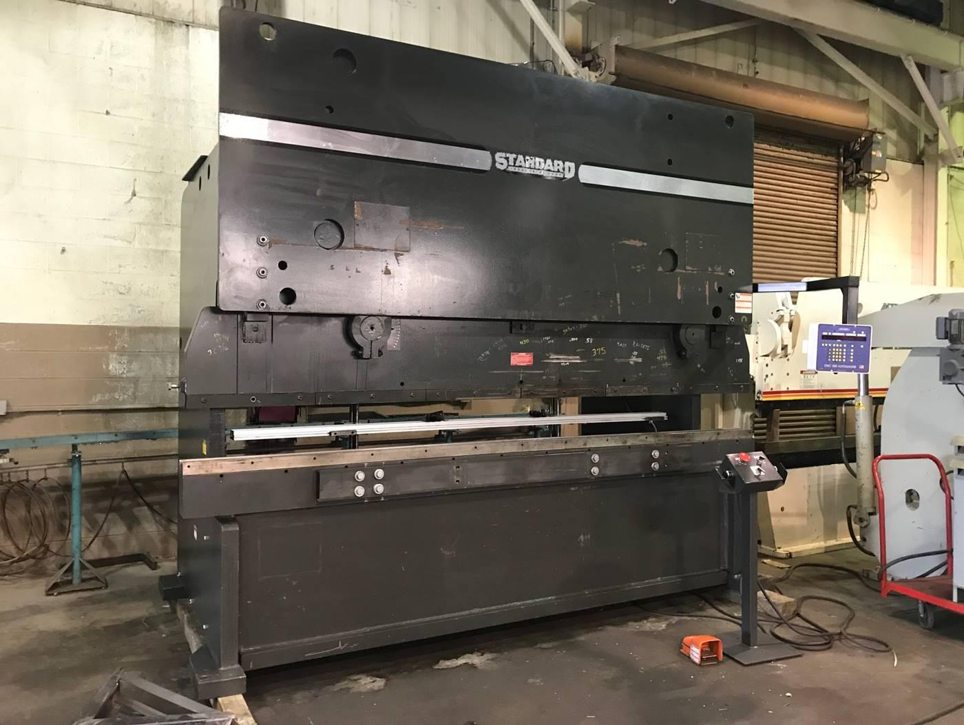 USED STANDARD 250 TON X 12' HYDRAULIC CNC PRESS BRAKE, 2012, Stock No. 10572