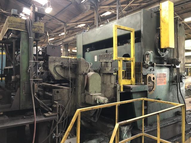 """60"""" x .375"""" x 40,000# Automatic Feed Cut-to-Length Line with Edge Deburr"""
