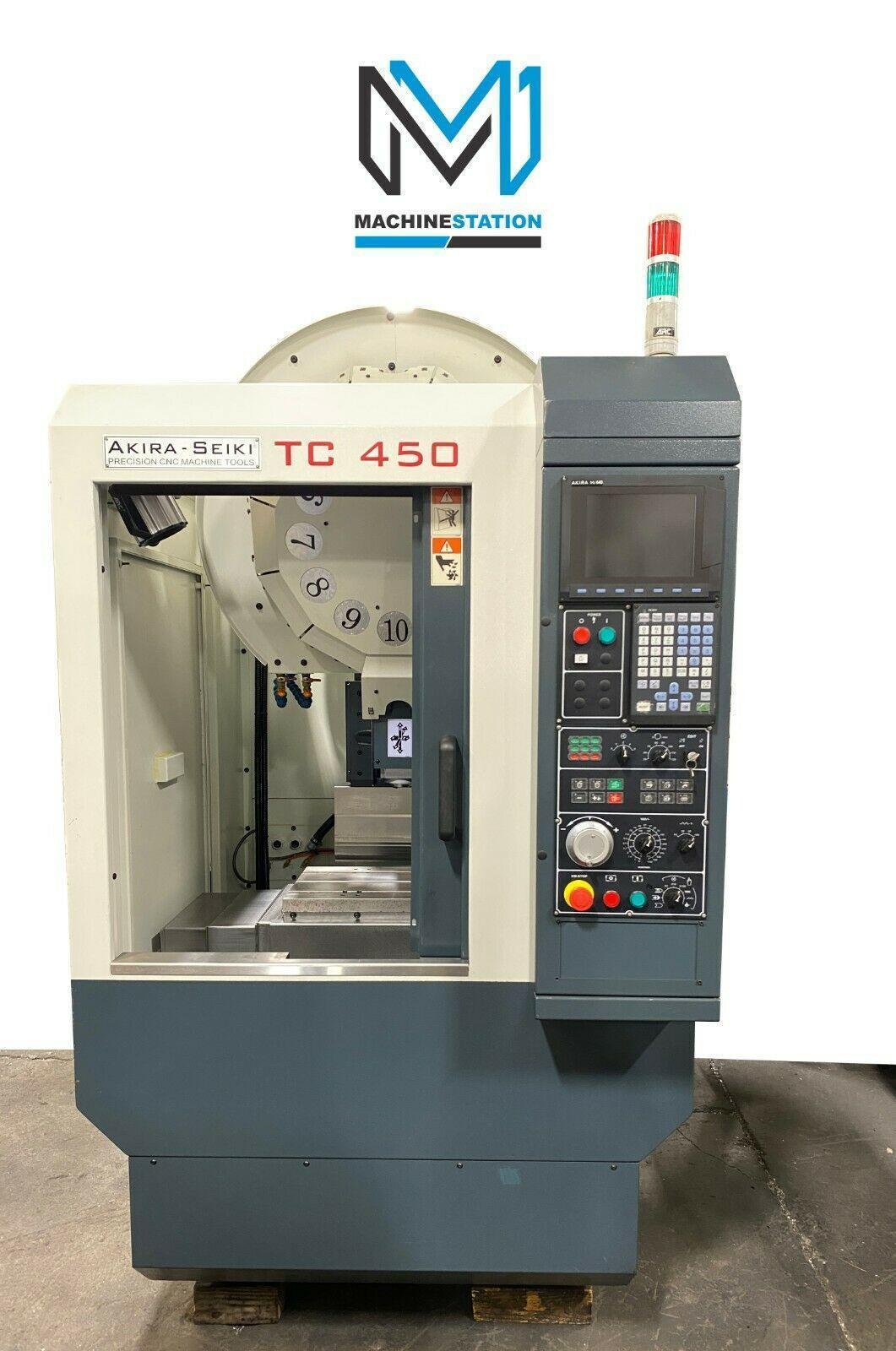 AKIRA SEIKI TC-450 CNC DRILL TAP VERTICAL MACHINING CENTER