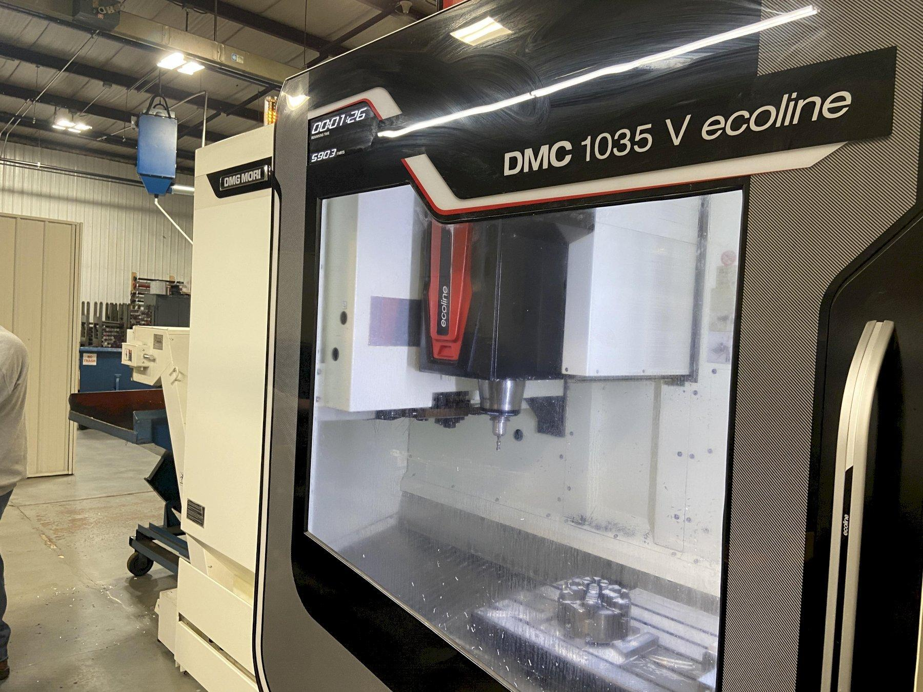 "DMG/Mori Seiki 1035V Econoline CNC Vertical Machining Center, Mitsubishi M730BM, 40""/22""/20"" Travels, 12K Spindle, 30 ATC, CT-40, Prepped for CTS, Low Hours, 2014"