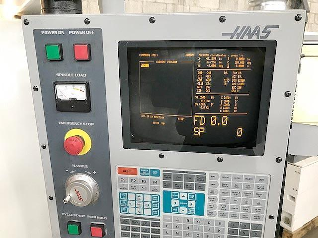 """HAAS TL-15B BIG BORE with sub-spindle and live tooling, Haas CNC control, 21.6"""" swing, 5.5"""" chuck, 3"""" bar, live tooling, sub-spindle, barfeed, new 2001."""