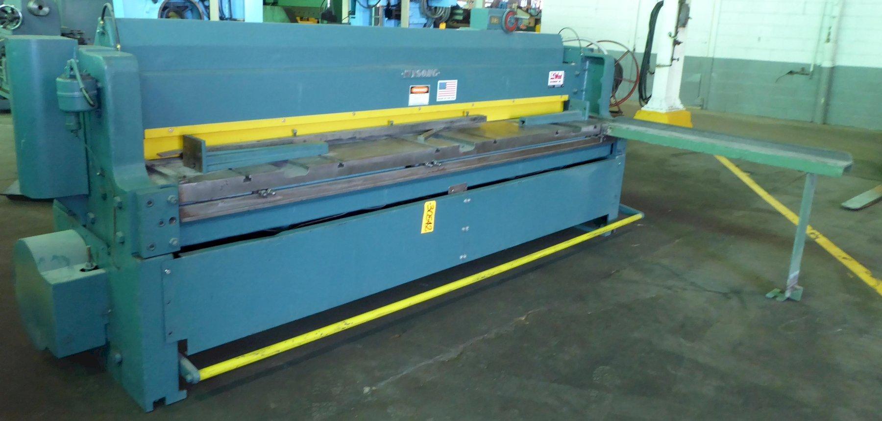 """10' x 10 Ga. Wysong Power Squaring Shear No. 1010-RD, 24"""" FOMBG, 7-1/2 HP, Clean, Clean"""