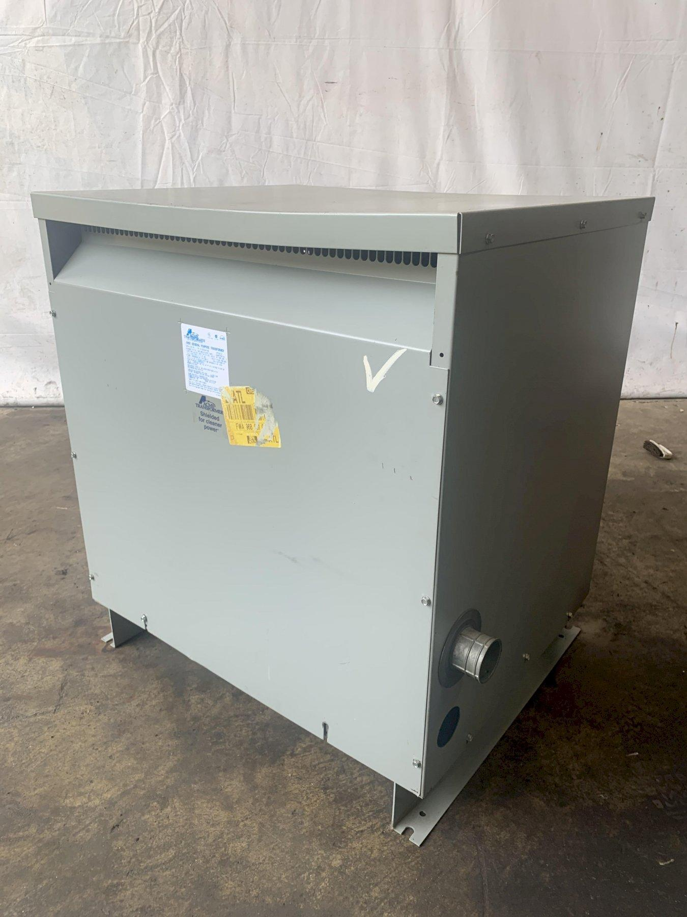 112.5 KVA ACME 480 TO 240/120 DELTA 3 PHASE ELECTRICAL TRANSFORMER: STOCK 13696