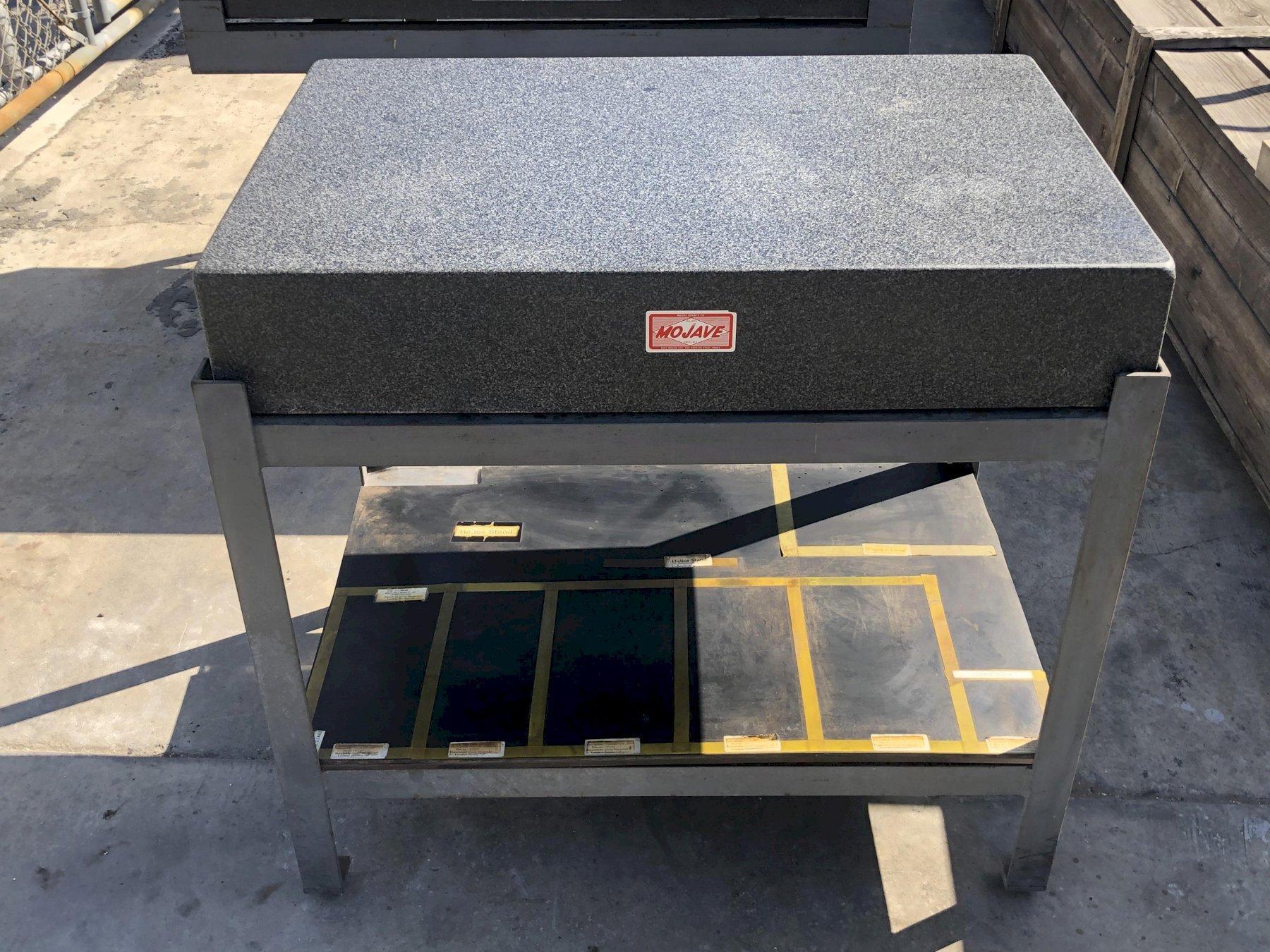 "Standridge Surface Granite Plate 36"" x 24"" x 6"" with Stand, Grade AA."