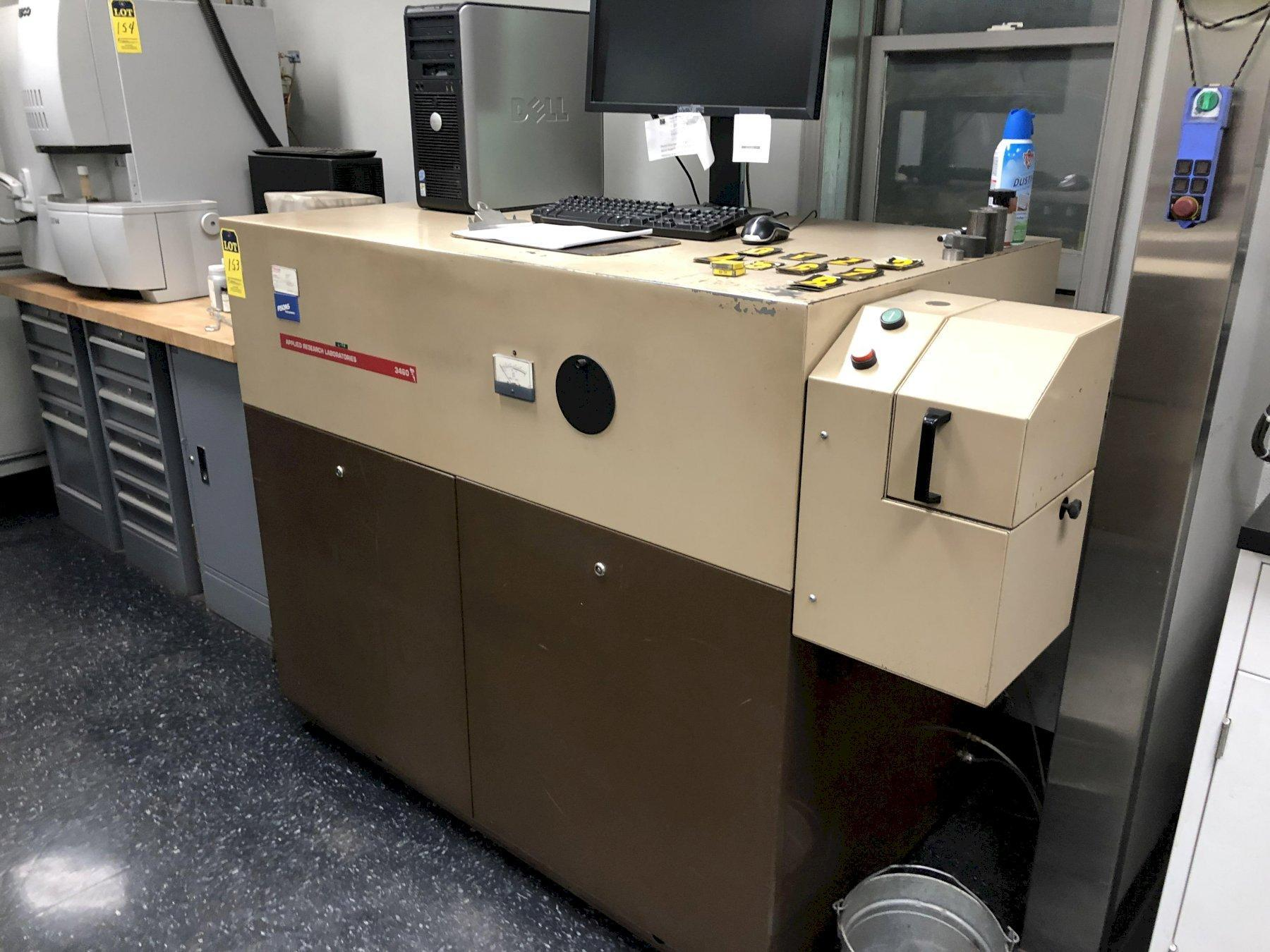 ARL Fisons model 3460oe steel base spectrometer s/n 1177, new vacuum 2014, 14 elements, : Phos, Sul, Selenium, Carbon, Silicon, Nickel, Chromium, Molybdenum, Manganese, Copper, Iron, Zinc, Aluminum an
