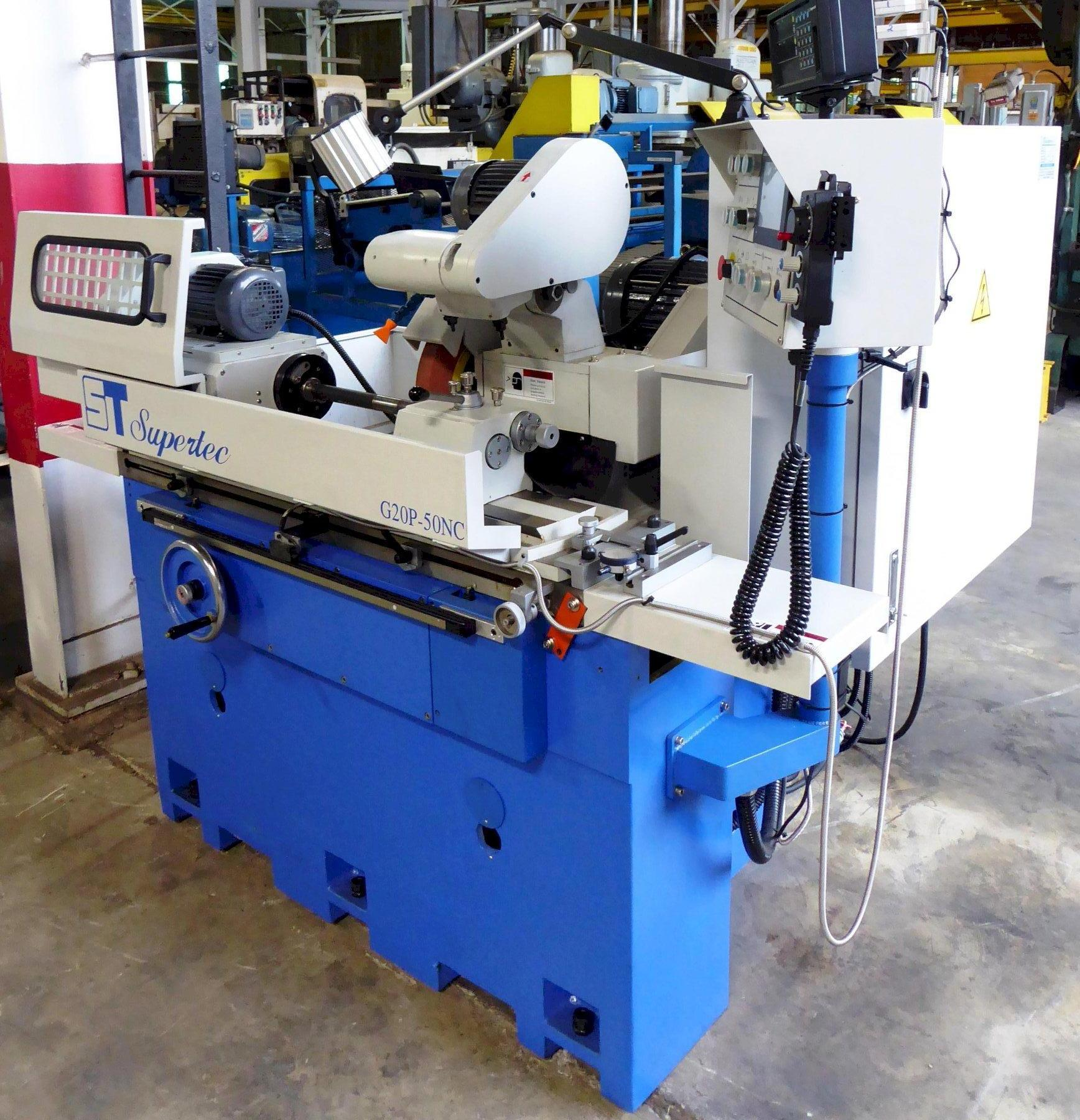 """8"""" x 20"""" Supertec Cylindrical Grinder G20P-50NC, I.D. Attachment, DRO, Like New Condition"""