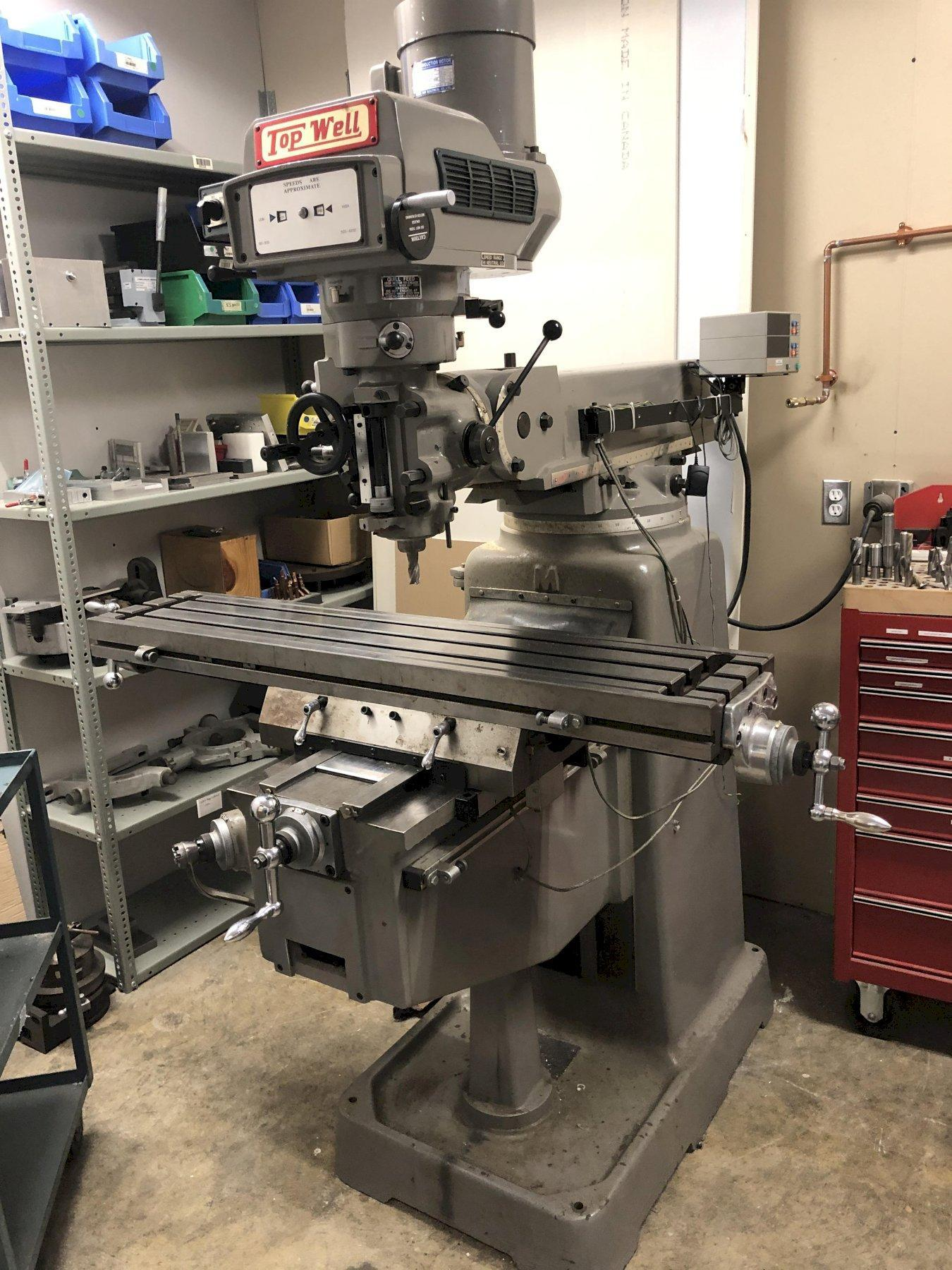 "10"" x 50"" Topwell Model 3VK Vertical Turret Milling Machine"