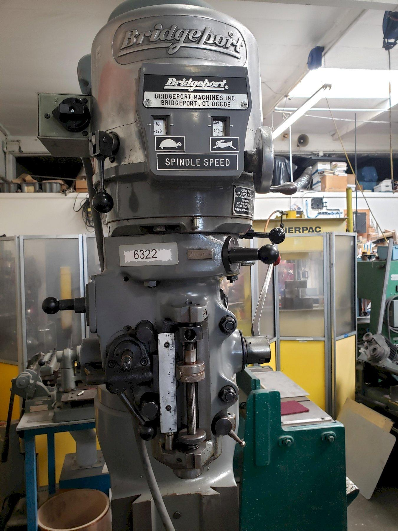 Bridgeport Series I Vertical Mill with: Rebuilt Head, New Align Power Feed Table, New X & Y Screws and Nuts, and One Shot Lube.