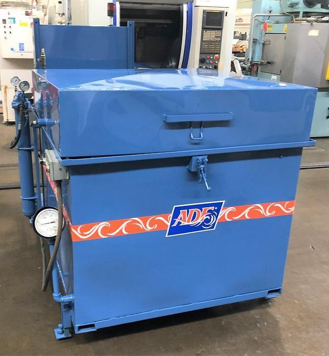 """ADF SYSTEMS ROTARY PARTS WASHER, Model 800, 2 Stage, 42"""" Part Basket."""