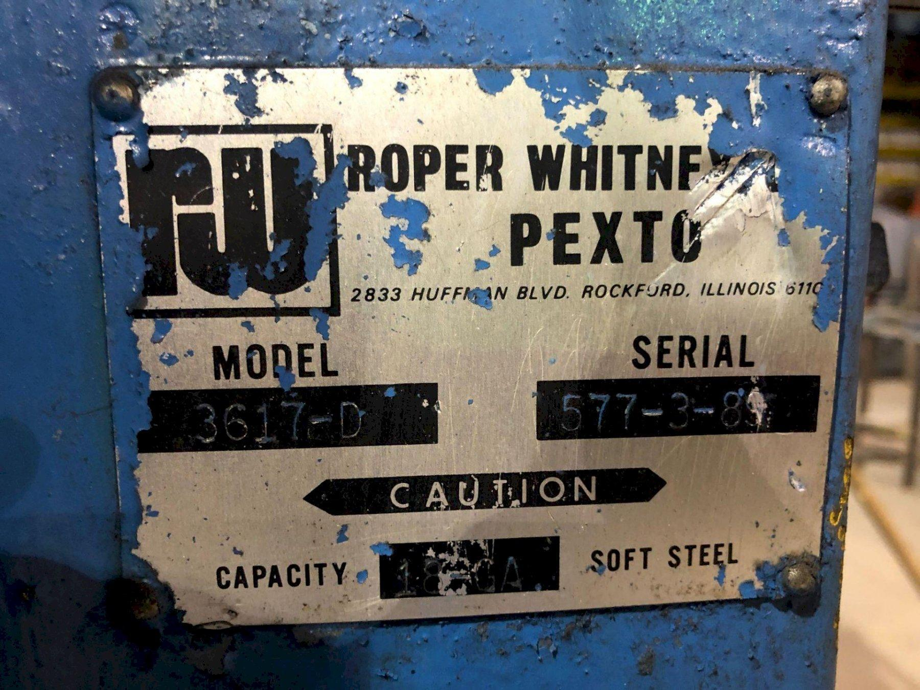 ROPER WHITNEY PEXTO 3671-D POWERED COMBO ROTARY MACHINE. STOCK # 0415221