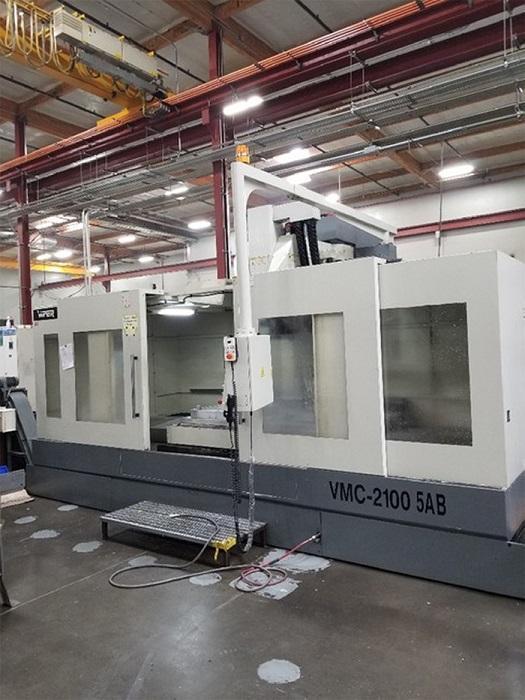 "MIGHTY VIPER VMC2100-5AB 5-AXIS, Fanuc 15i-M CNC Control, 82"" x 41"" table, X=80"", Y=40"", Z=30"", 10,000RPM, 20 ATC, New 2008."