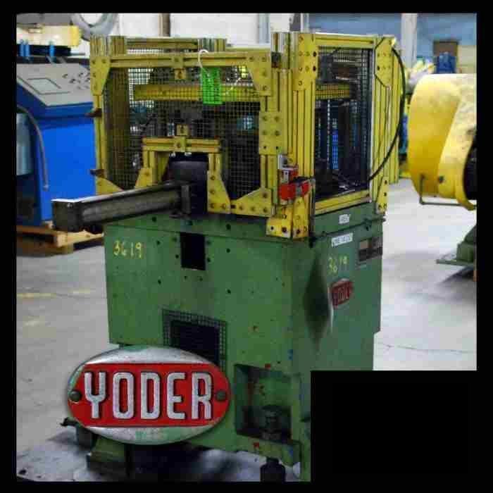 """12 Ton x 3"""" Yoder 4-Post Air Cut-Off Press"""