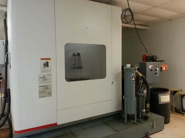 "CINCINNATI V5-2000 5-AXIS, Siemens 2100 CNC, Control, X= 80"", Y=30"",Z=30"", A & B = 80 Degrees (+/- 40), 15,000 RPM, New 1999."